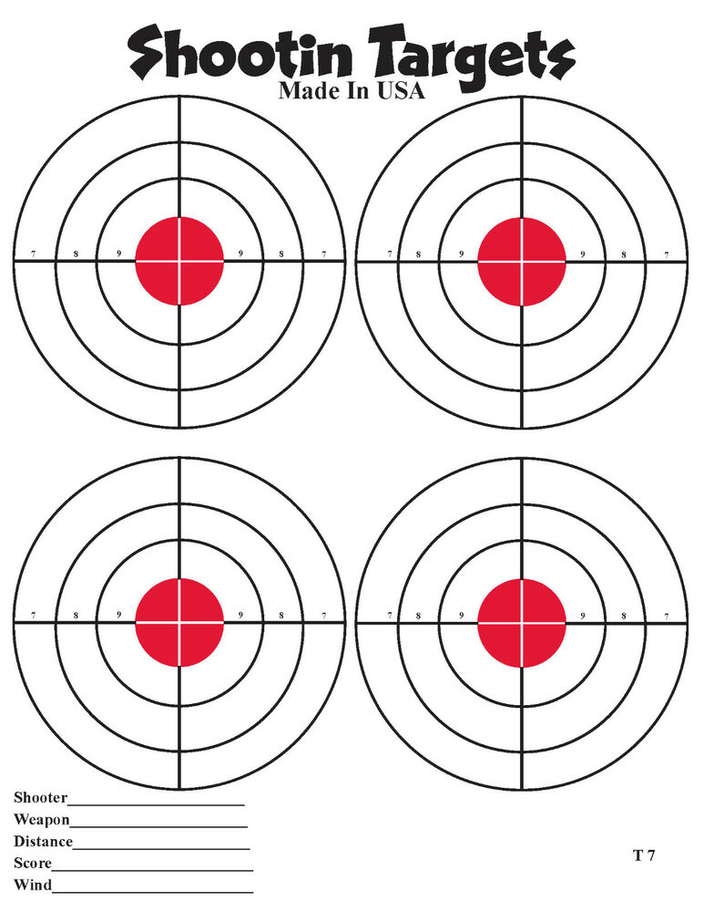 It is a picture of Nerdy Free Shooting Targets