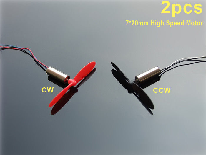 2pcs dc 7 20mm 50000rpm mini coreless dc motor model for Toy helicopter motor rpm