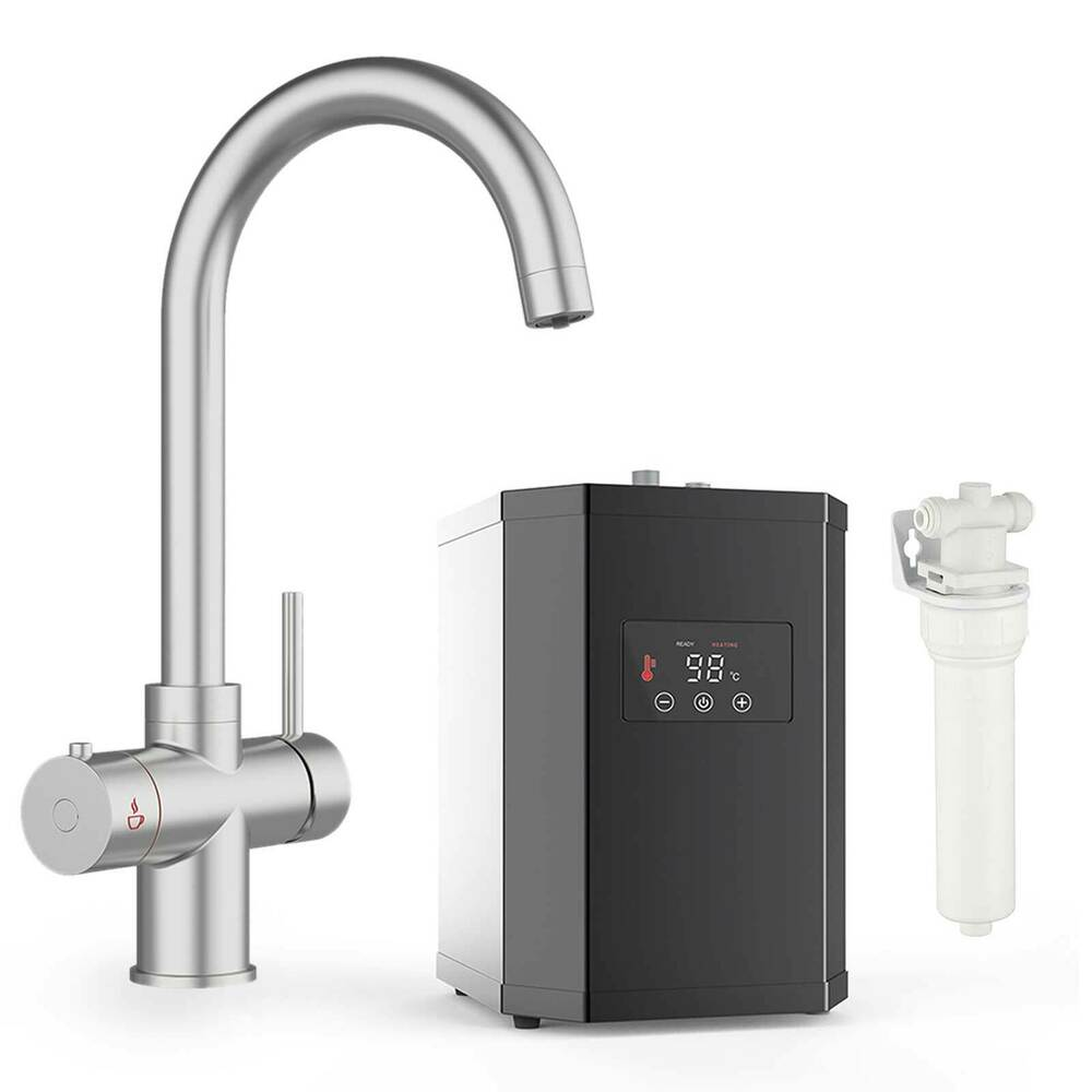 Instant Hot / Boiling Water Kitchen Tap 3 in 1 Cold Water Filter ...