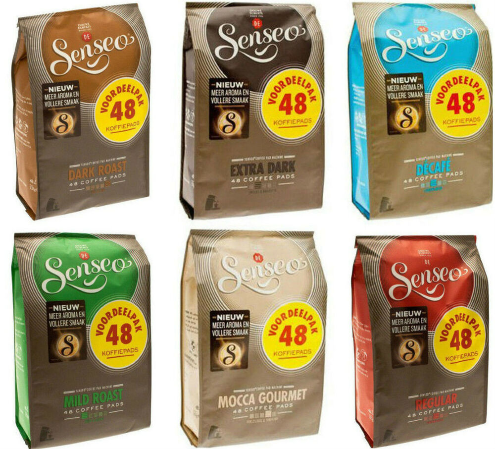 048 x douwe egberts senseo coffee pods pads 6 flavours. Black Bedroom Furniture Sets. Home Design Ideas