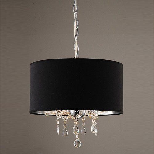 Crystal Chandelier With Drum Shade: Modern Crystal Ceiling Lighting Chandelier Pendant Fixture
