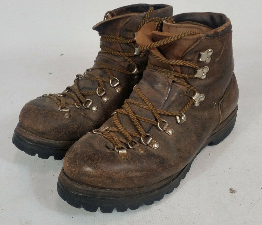 Vtg Vasque Hiking Mountaineering Boots Men 039 S 10 5 Red