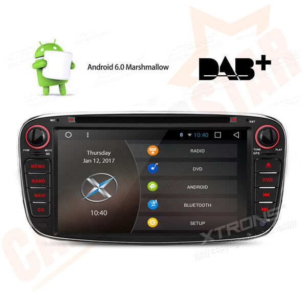 android 6 0 gps sat nav car dvd player dab radio ford. Black Bedroom Furniture Sets. Home Design Ideas