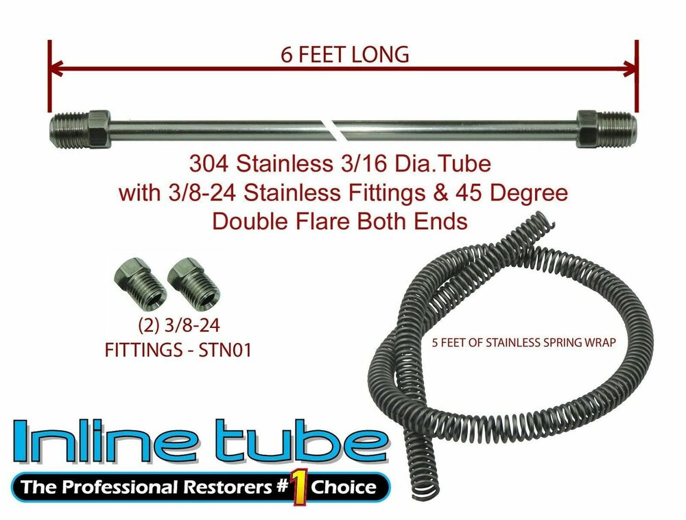 Auto Parts Brake Lines : Chevy gmc truck stainless steel brake line rear