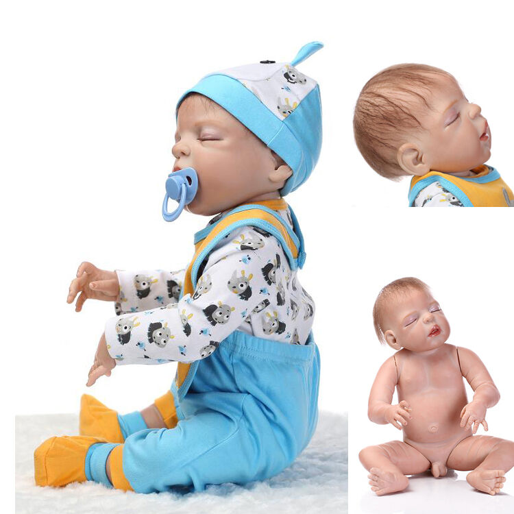 Real Touch Sleeping Reborn Baby Doll Silicone Soft 17 Inch ...