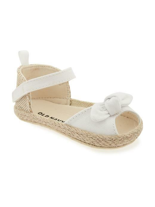 Old Navy Bow Tie Espadrilles For Baby White 0 24 Months
