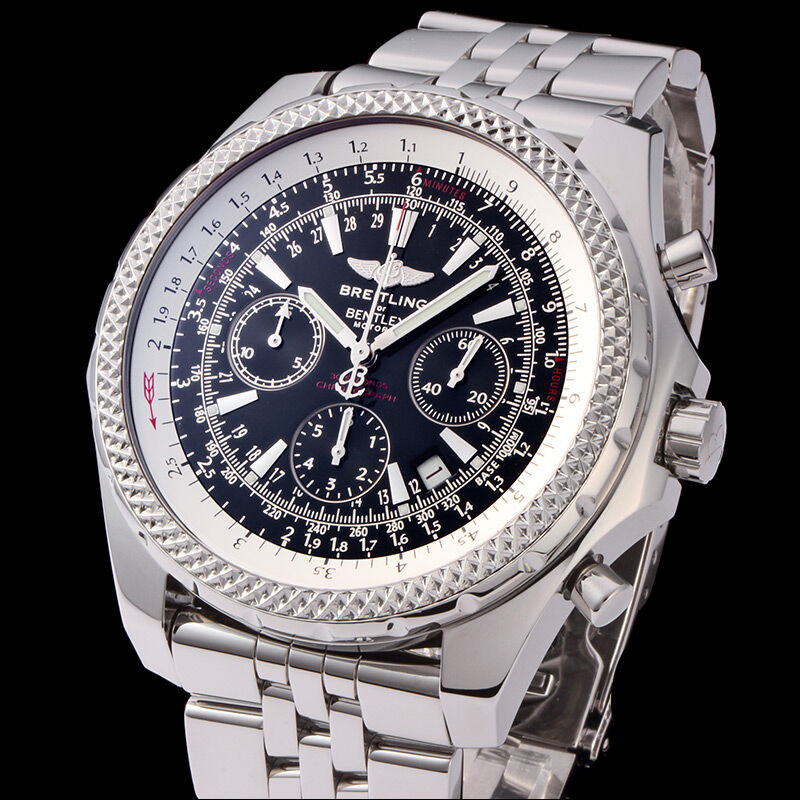 Breitling Stainless Steel Bentley Automatic Wristwatch Ref: Breitling Bentley Motors Stainless Steel Pilots Bracelet