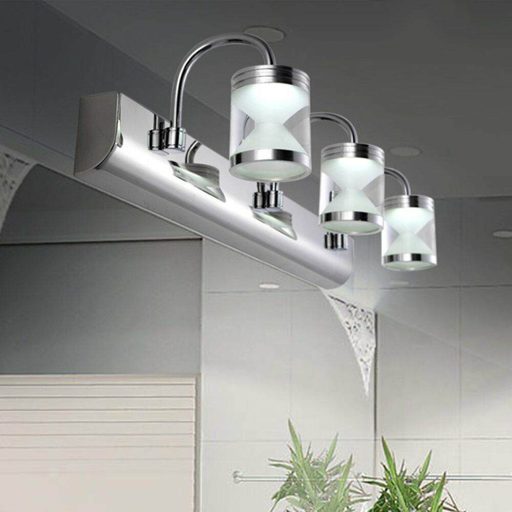 3 3w led acrylic bathroom front mirror lights toilet wall mounted lamps lighting ebay. Black Bedroom Furniture Sets. Home Design Ideas
