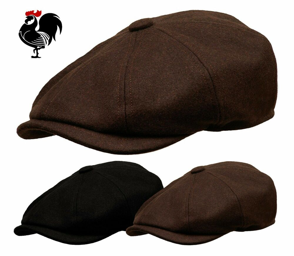 Details about ROOSTER WOOL NEWSBOY GATSBY CAP MEN DRIVING IVY GOLF HAT  CABBIE BLACK BROWN a317eeec04f