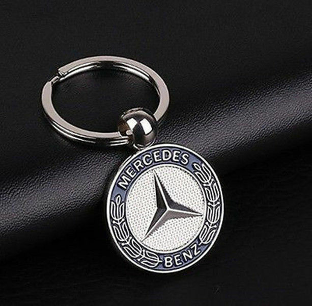 genuine mercedes benz vintage star key ring classic silver. Black Bedroom Furniture Sets. Home Design Ideas