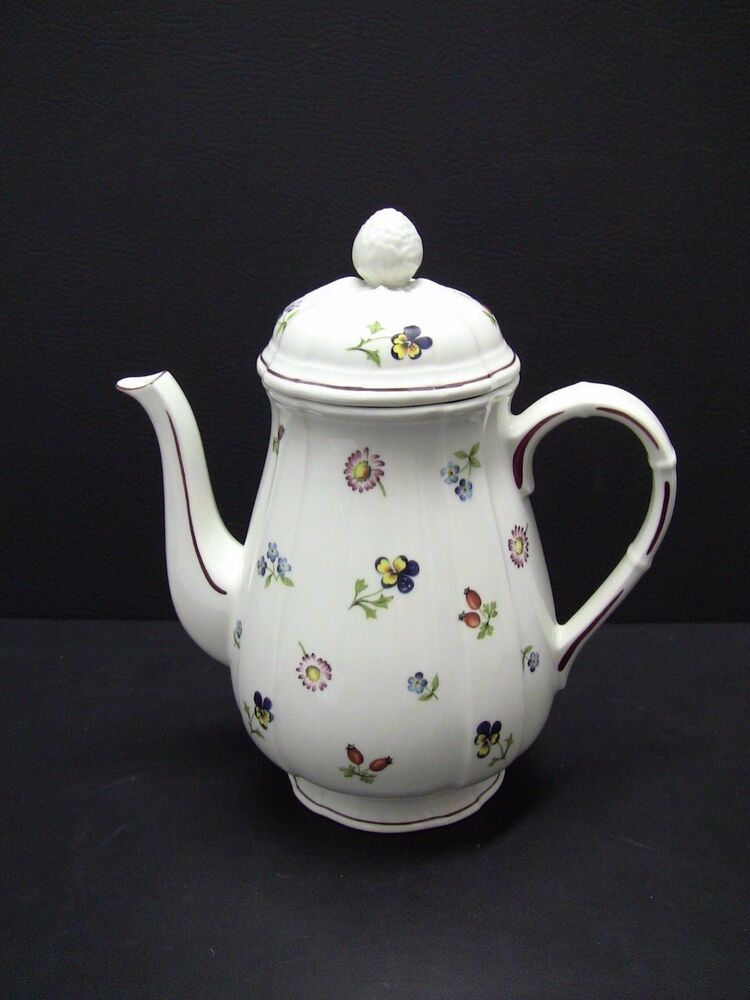 villeroy boch petite fleur coffee pot ebay. Black Bedroom Furniture Sets. Home Design Ideas