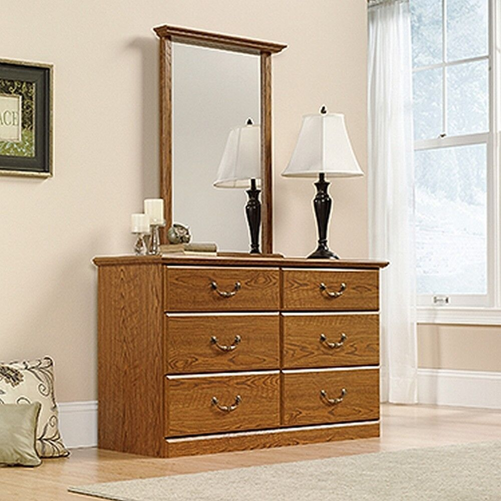 sauder bedroom furniture sauder 401410 orchard dresser carolina oak finish 13118