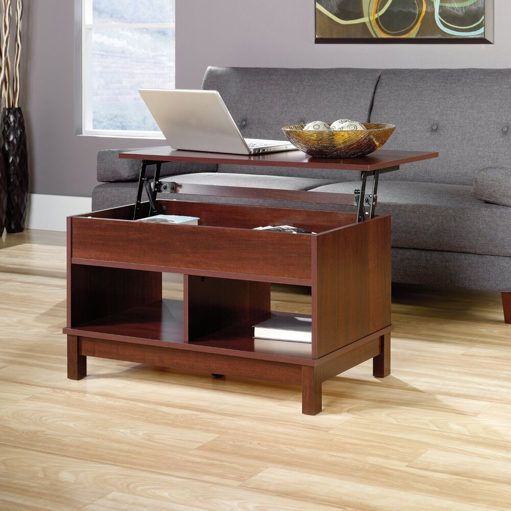 Sauder 418341 Kendall Square Lift Top Coffee Table Select Cherry Finish New Ebay