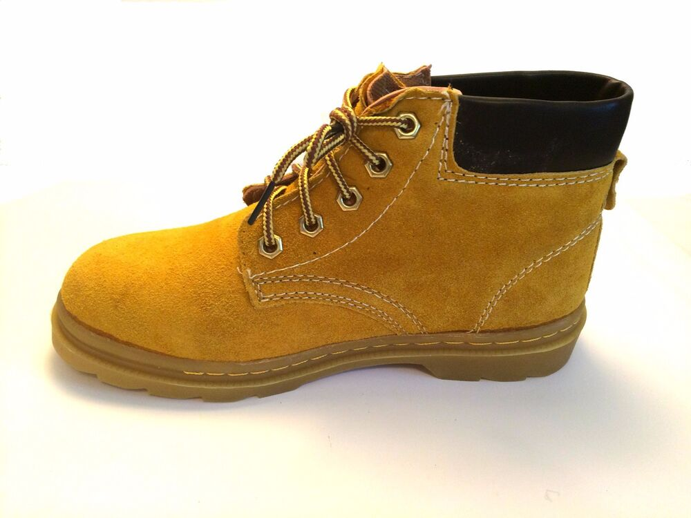 A6 New Men S Leather High Top Work Boots Size 6 10 Ebay