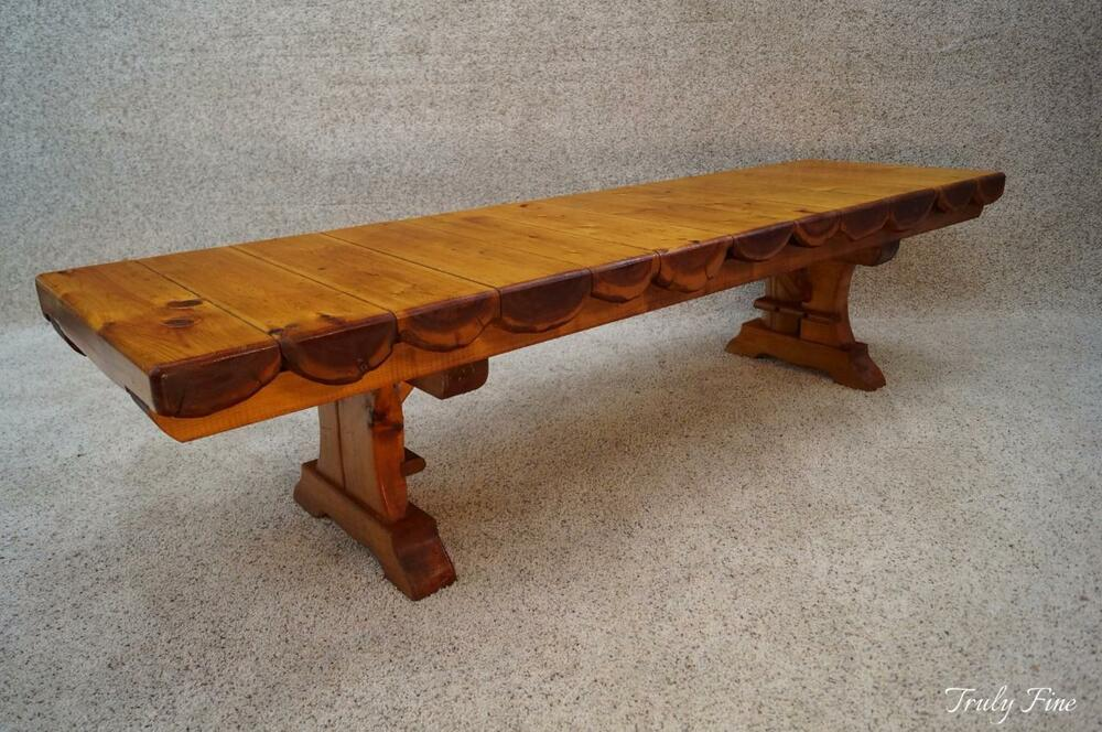 Adirondack Lodge Cabin House Log Bench Coffee Table Rustic 6 Foot Seating Ebay