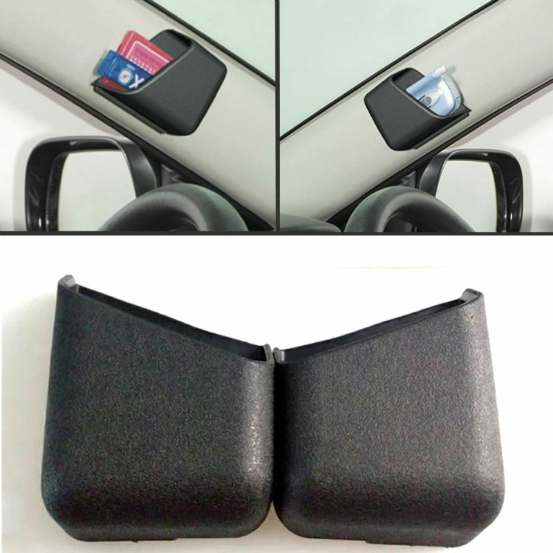 2pcs black car accessories pen card phone organizer storage bag box tidy holder ebay. Black Bedroom Furniture Sets. Home Design Ideas