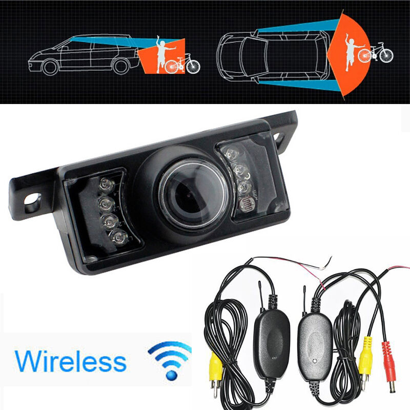 2 4g wireless car reverse rear view backup camera 7 ir night vision parking cam ebay. Black Bedroom Furniture Sets. Home Design Ideas