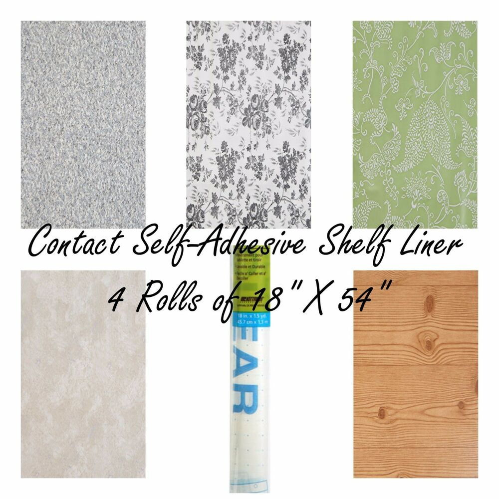 Lot Of 3 Contact Quick Cover Self Adhesive Shelf Drawer