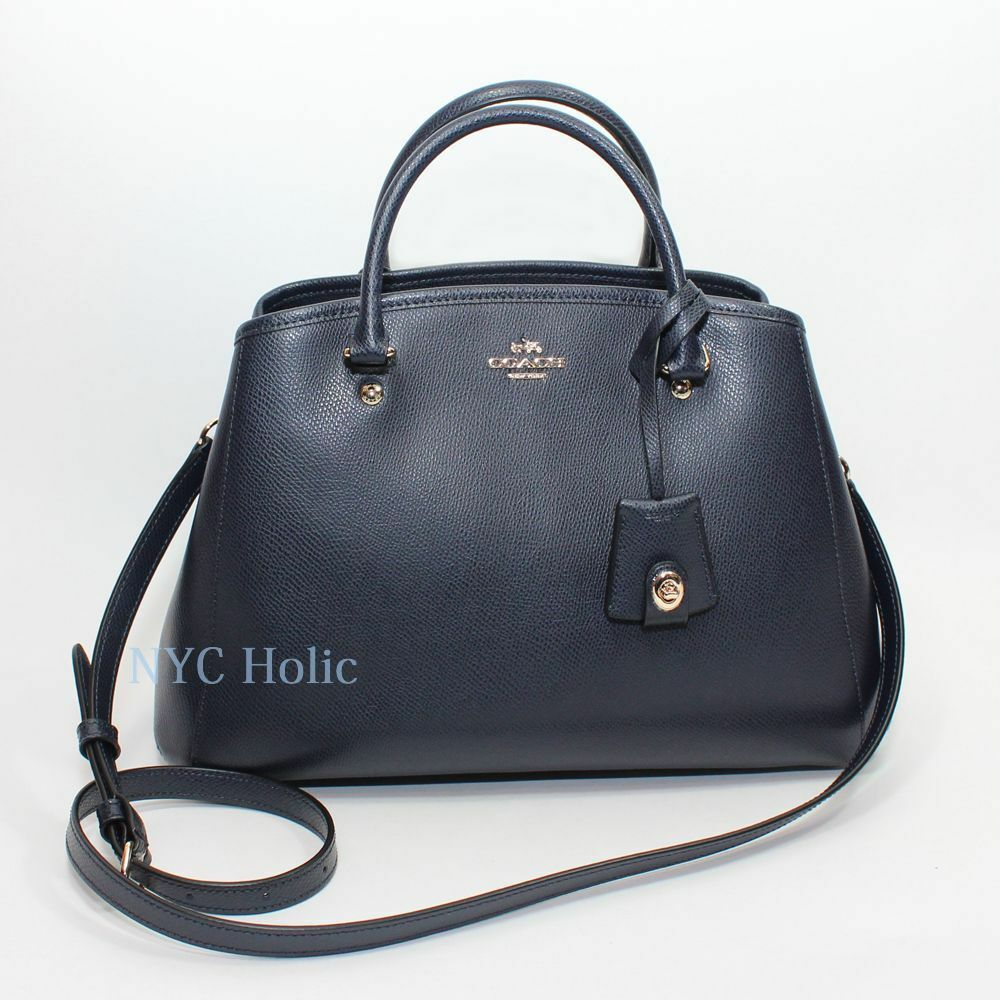 New Coach F34607 Small Margot Carryall In Leather Midnight ...