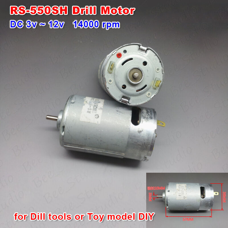 High Speed Dc 6v 12v 14000rpm Mabuchi Rs 550sh Dc Motor