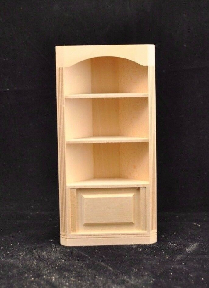 Corner Bookcase 5029 Dollhouse Miniature 1 12 Scale