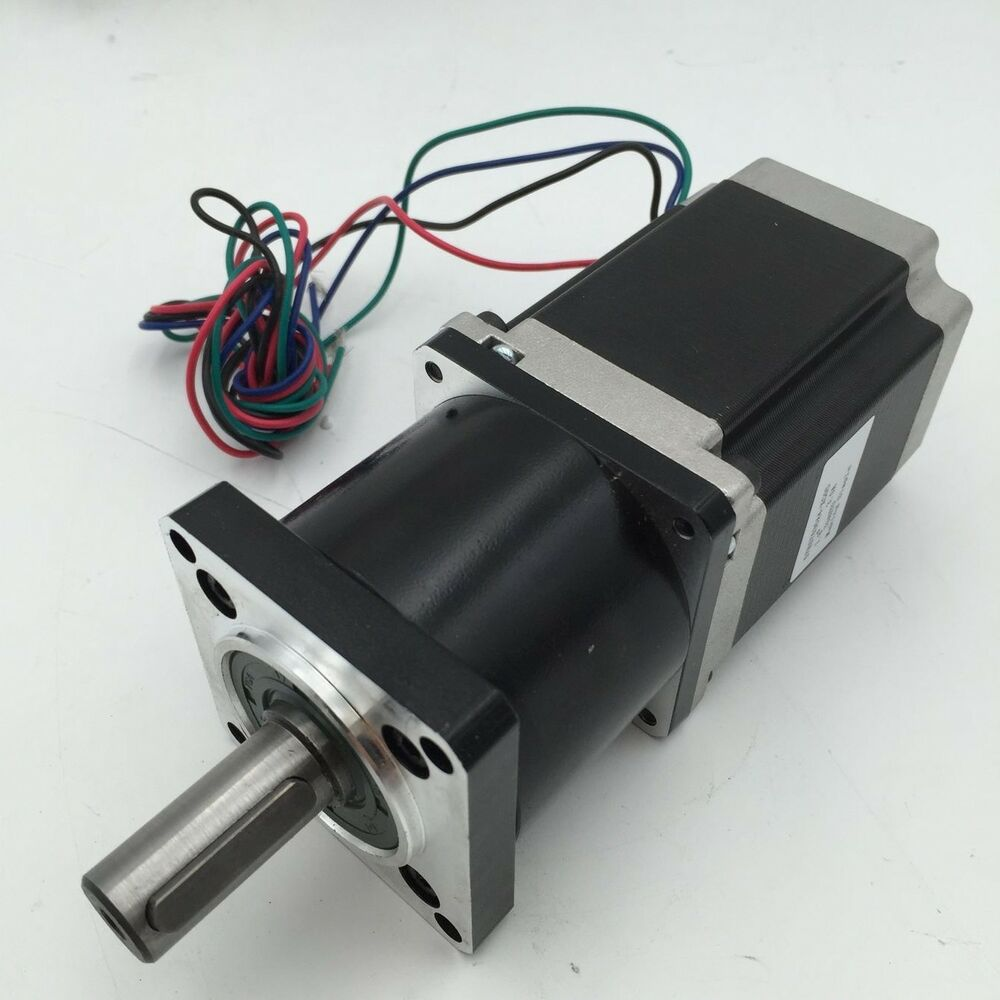 Gear ratio 10 1 nema23 planetary gearbox stepper motor 12n for Stepper motor gear box