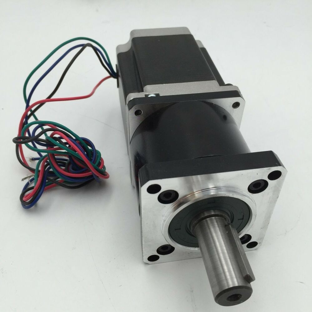 Nema23 2ph stepper motor planetary gearbox 5 1 10 1 20 1 for Stepper motor gear box