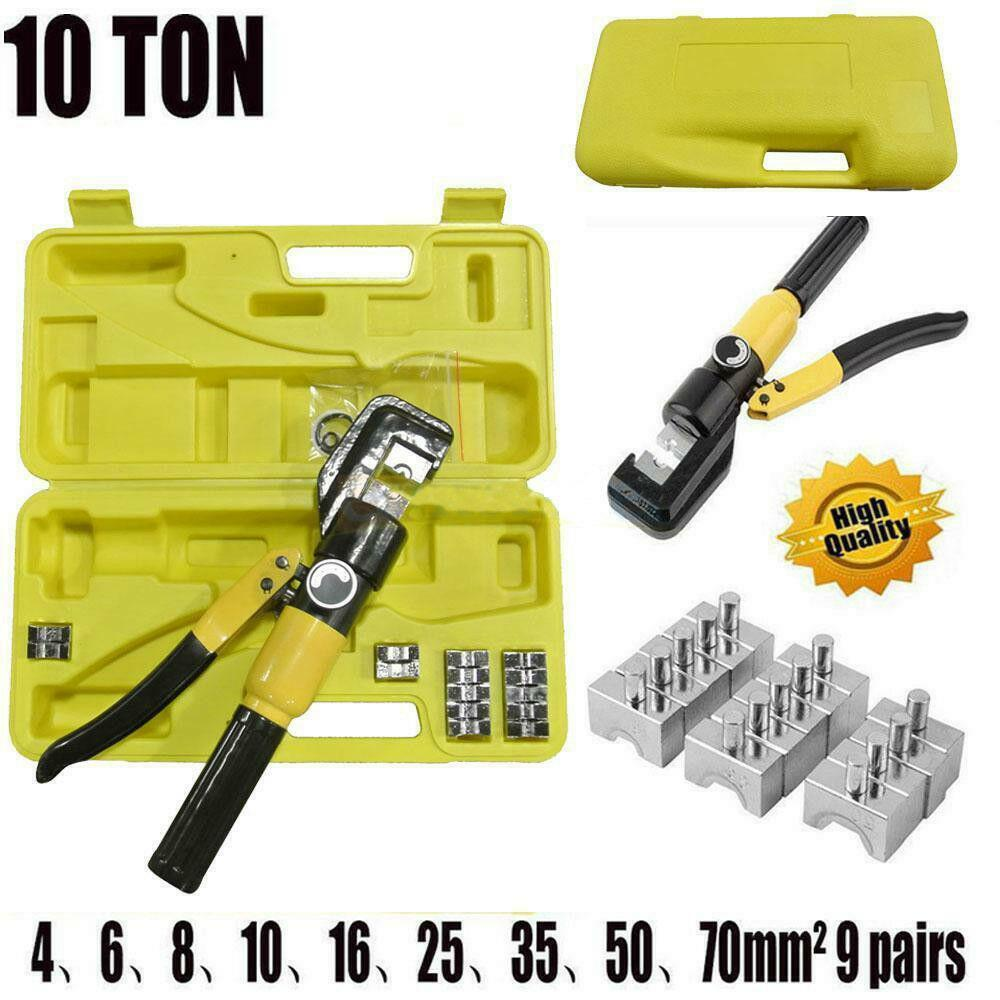 Cable Crimp Set : Hydraulic crimping tool kit t cable crimper dies wire