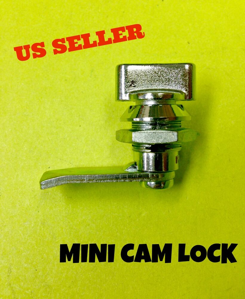 Lot of 10 mini cam lock wing knob cabinet box drawer for Cam lock kitchen cabinets