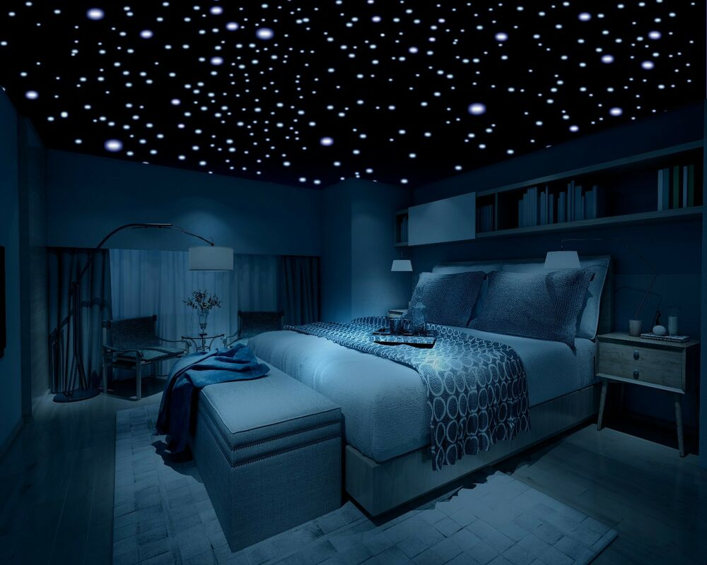 Glow in the dark stars 600 stars 3d self adhesive domed stars bedroom ceiling ebay for Starry night lights for bedroom