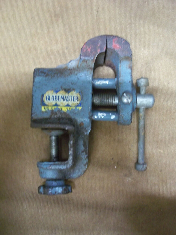VINTAGE GLOBEMASTER SMALL BENCH CLAMP ON VISE collectible ...