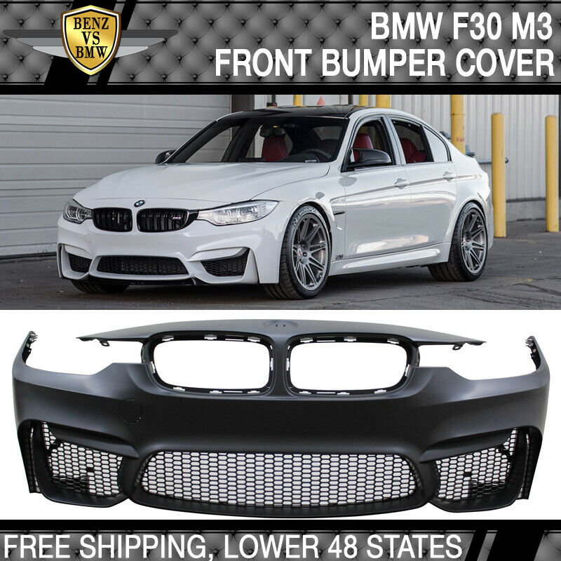 Fit 12-18 BMW F30 3 Series M3 Style Front Bumper Cover