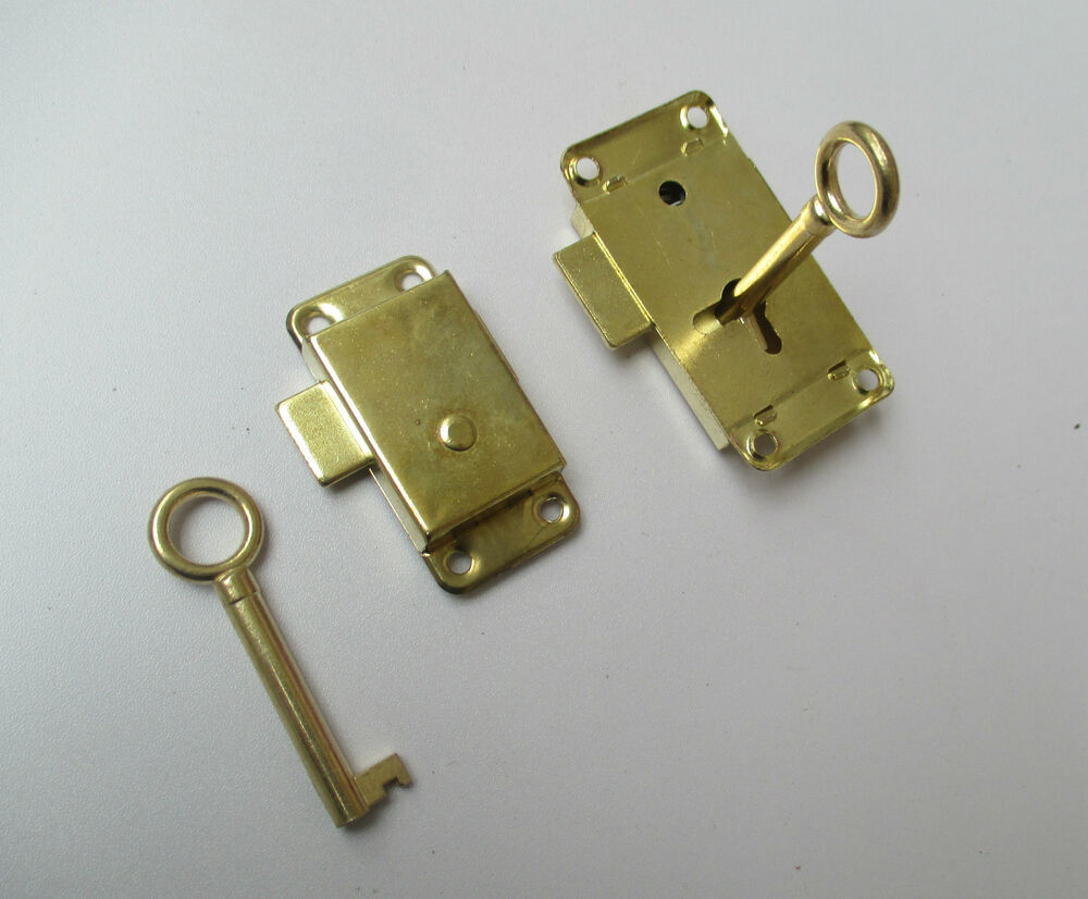 Vintage Retro Old Style Brass Wardrobe Lock Cupboard