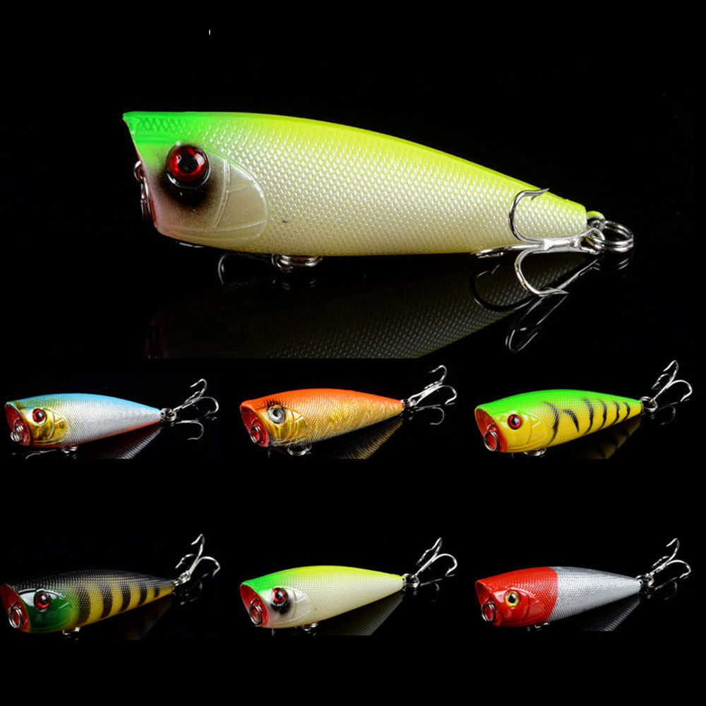 1pcs hard popper topwater fishing lures crankbaits bass for Fishing poppers for bass