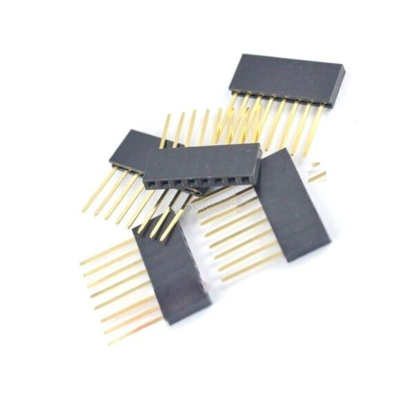 12 Pcs 8 Pin 2.54 mm Stackable Long Legs Femal Header For Arduino Shield