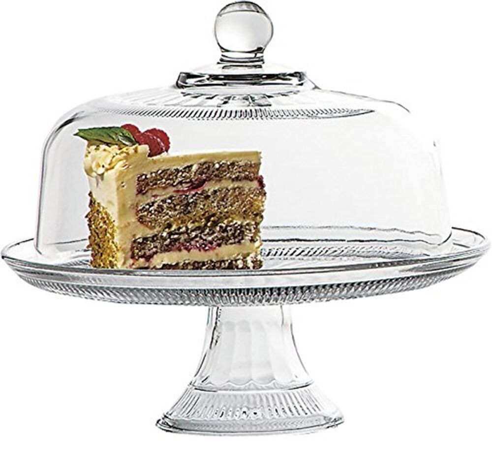 anchor hocking annapolis covered cake stand glass cake stand and dome ebay. Black Bedroom Furniture Sets. Home Design Ideas