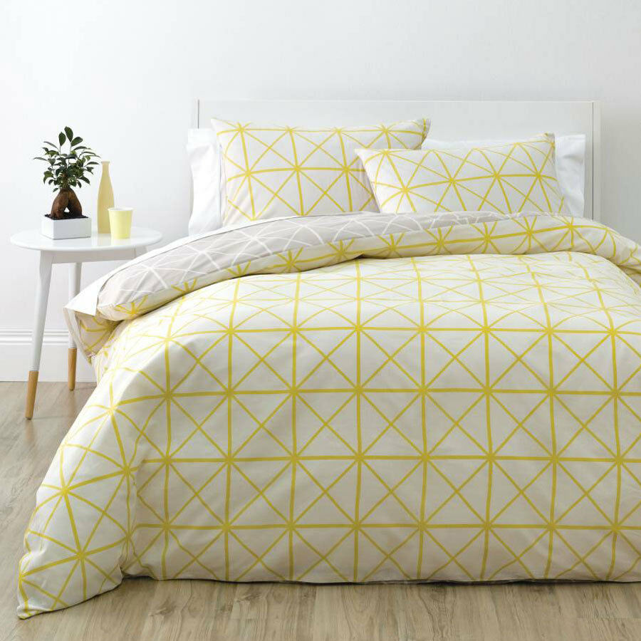 Deco City Living Net Yellow Queen Size Bed Doona Duvet