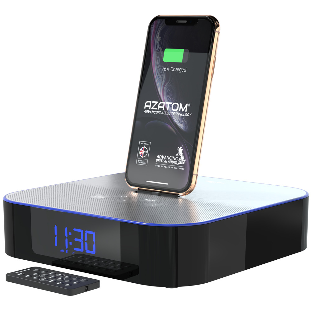 iphone radio alarm docking station speaker ipad ipod bluetooth moreaudio nox ebay. Black Bedroom Furniture Sets. Home Design Ideas