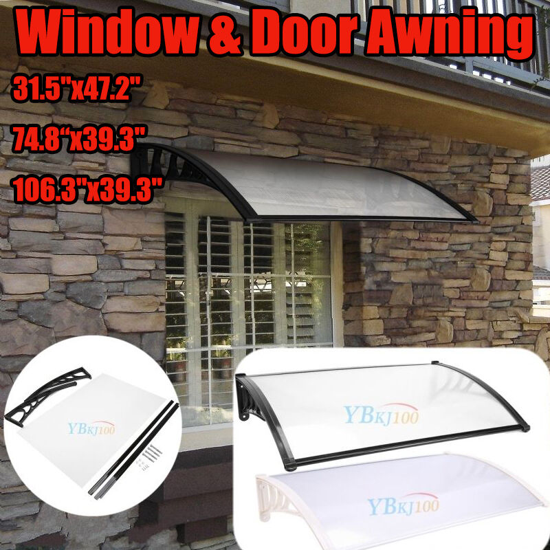 Diy Patio Door Installation: US 3 Sizes Window Awning Outdoor DIY Front Door Canopy
