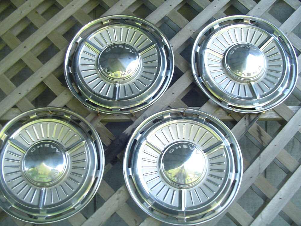 1963 1964 Chevrolet Chevy Ii Hubcaps Wheel Covers Center