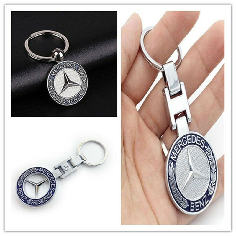 Metal car logo auto part accessories car keychain key for Mercedes benz key chain