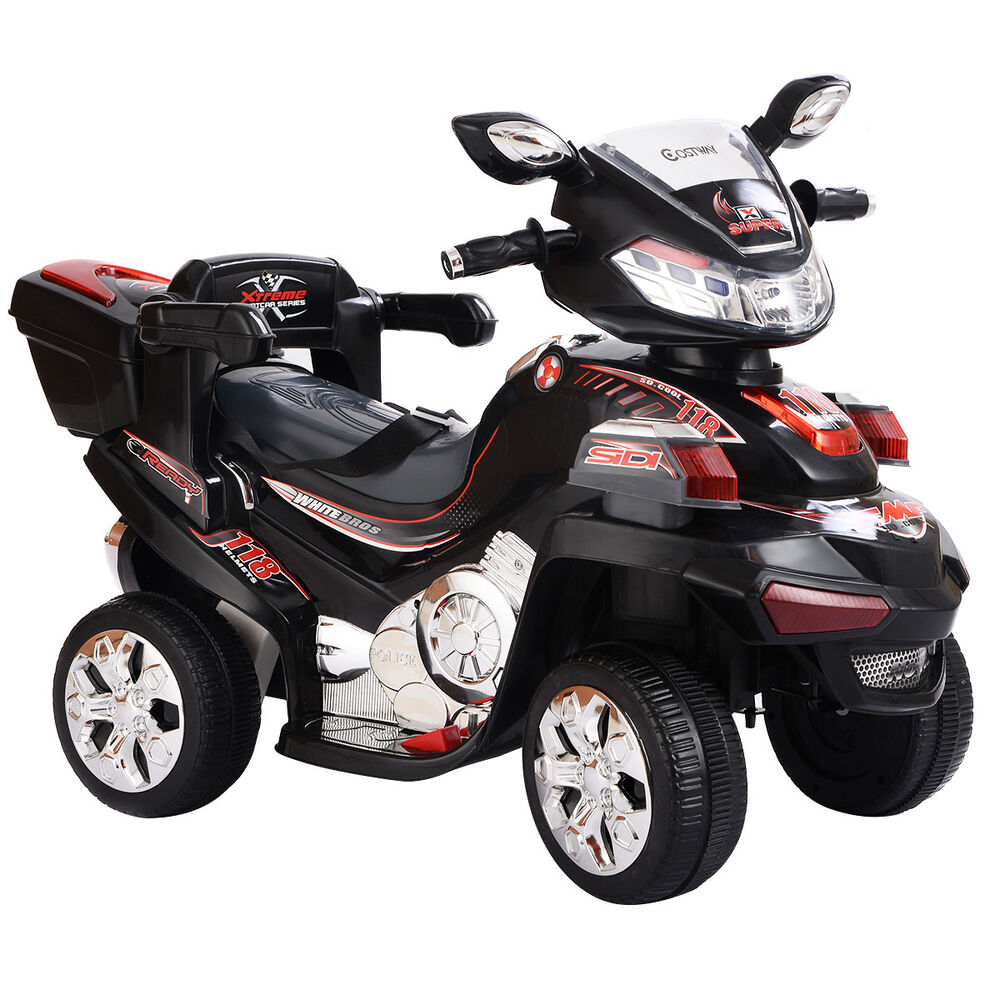 motorcycle electric wheel battery power toy powered ride wheels 6v bicyle toys rc remote control costway