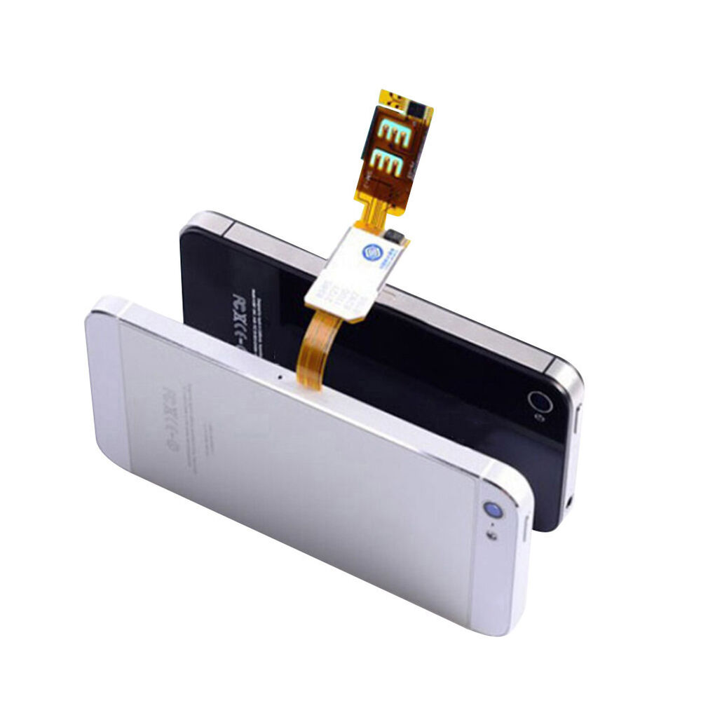 dual sim card double adapter convertor for iphone 5 5s 5c 6 6 plus wb ebay. Black Bedroom Furniture Sets. Home Design Ideas