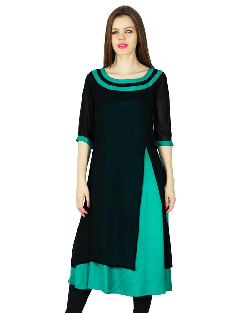 Luxury  Bollywood Kurta Women Ethnic Kurti Cotton Top Tunic Dress 20686  EBay