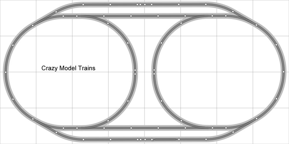 layout  004 dcc bachmann ho ez track  ns  nickel silver 4 u0026 39  x 8 u0026 39  new