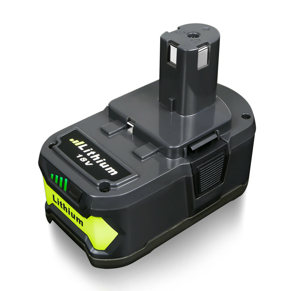 new for p108 ryobi 18 volt 18v one plus lithium ion high capacity battery ebay. Black Bedroom Furniture Sets. Home Design Ideas
