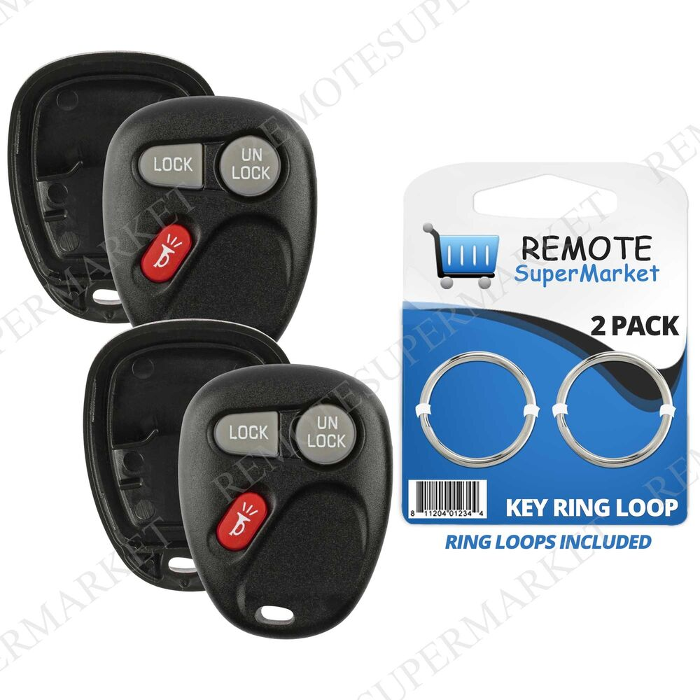 Replacement For Chevy S10 Suburban 1500 Tahoe Remote Key Fob 1bt Shell Case Pair