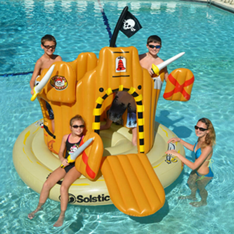 Swimline Inflatable Pirate Island Adventure Set Swimming Pool Kids Float 90940 Ebay