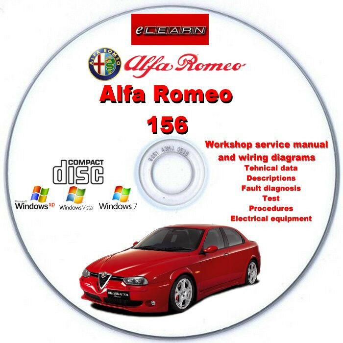alfa romeo 156 elearn english german french spanish. Black Bedroom Furniture Sets. Home Design Ideas