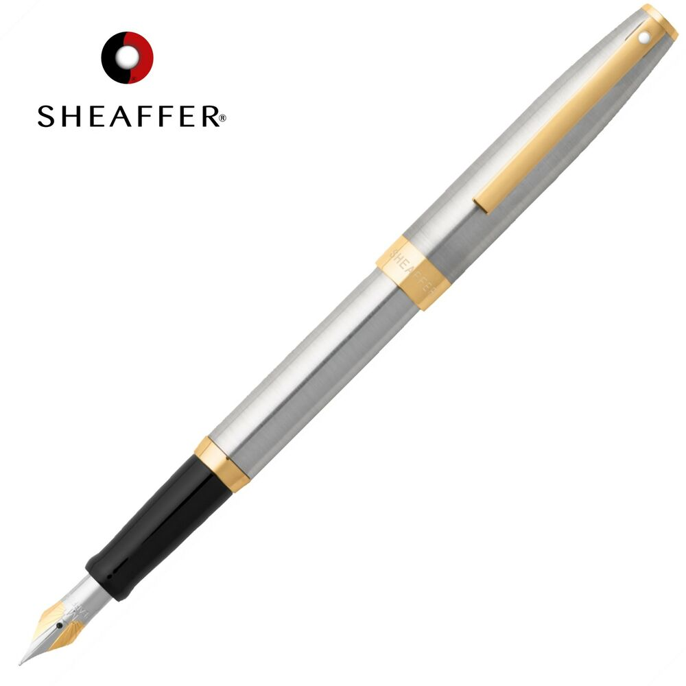 Sheaffer Sagaris Calligraphy Fountain Pen Fine Nib Chrome